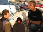 Baptême et présentation du bateau de la route du Rhum avec Institut Imagine